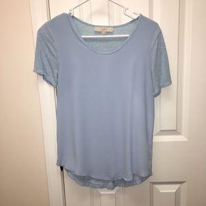 LOFT blue short sleeve top, XS